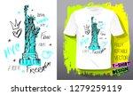 new york city american liberty... | Shutterstock .eps vector #1279259119