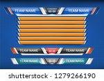 scoreboard broadcast and lower... | Shutterstock .eps vector #1279266190