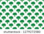 background vector with broccoli ... | Shutterstock .eps vector #1279272580