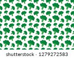 background vector with broccoli ... | Shutterstock .eps vector #1279272583