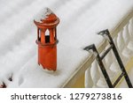 snow covered roof and chimney... | Shutterstock . vector #1279273816