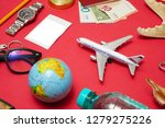 set of objects for travel... | Shutterstock . vector #1279275226