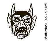 devil head illustration. | Shutterstock .eps vector #1279276126