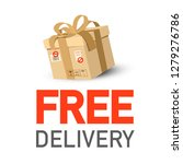 free delivery icon with parcel | Shutterstock .eps vector #1279276786