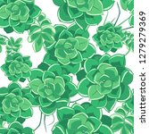seamless drawn flower pattern.... | Shutterstock .eps vector #1279279369