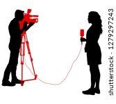 silhouette operator removes... | Shutterstock .eps vector #1279297243