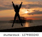 freedom on the beach | Shutterstock . vector #1279303243
