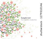 sakura flowers background | Shutterstock . vector #1279310146