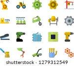 color flat icon set crane flat... | Shutterstock .eps vector #1279312549