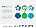 vector infographic template for ... | Shutterstock .eps vector #1279313179