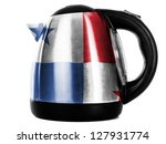 the panama flag painted on... | Shutterstock . vector #127931774
