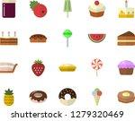 color flat icon set watermelon... | Shutterstock .eps vector #1279320469