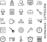 thin line icon set   alarm... | Shutterstock .eps vector #1279321306