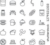 thin line icon set   sickle... | Shutterstock .eps vector #1279321333