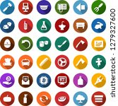 color back flat icon set  ... | Shutterstock .eps vector #1279327600