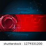 abstract technology vector... | Shutterstock .eps vector #1279331200
