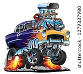 classic hot rod muscle car ... | Shutterstock .eps vector #1279337980