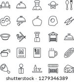 thin line icon set   spoon and... | Shutterstock .eps vector #1279346389