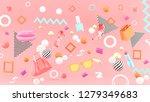 lipstick  high heels  handbag ...   Shutterstock . vector #1279349683