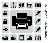 business and office icons set.... | Shutterstock .eps vector #127935020