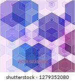 vector of abstract geometric... | Shutterstock .eps vector #1279352080