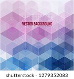 vector of abstract geometric... | Shutterstock .eps vector #1279352083