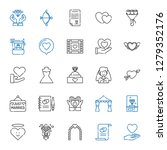 marriage icons set. collection... | Shutterstock .eps vector #1279352176