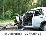 total car crash smash accident... | Shutterstock . vector #127935413