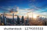 dubai sunset panoramic view of... | Shutterstock . vector #1279355533