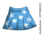 blue women's skirt with a belt... | Shutterstock . vector #1279360153