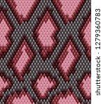 snake skin pattern texture...   Shutterstock .eps vector #1279360783