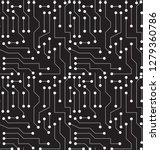 black and white printed circuit ...   Shutterstock .eps vector #1279360786