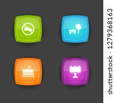 set of 4 infrastructure icons... | Shutterstock . vector #1279368163