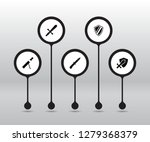 set of 5 gaming icons set.... | Shutterstock . vector #1279368379