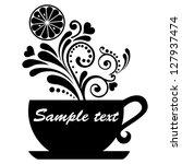 tea with lemon isolated on...   Shutterstock . vector #127937474