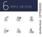 set of 6 position icons line... | Shutterstock . vector #1279382020