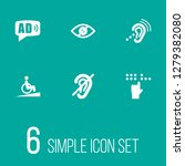 set of 6 accessibility icons... | Shutterstock . vector #1279382080