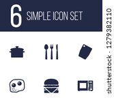 set of 6 cooking icons set.... | Shutterstock .eps vector #1279382110