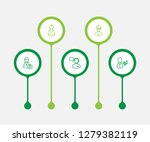 set of 5 position icons line... | Shutterstock .eps vector #1279382119