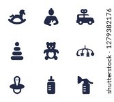 set of 9 kid icons set.... | Shutterstock .eps vector #1279382176