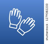 isolated gloves icon line... | Shutterstock . vector #1279382233