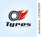 tyre shop logo design   tyre... | Shutterstock .eps vector #1279382599