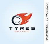 tyre shop logo design   tyre... | Shutterstock .eps vector #1279382620