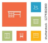 set of 6 situation icons line... | Shutterstock . vector #1279382800