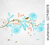 Hand Drawing Floral Background...
