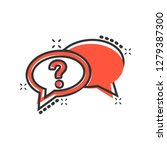 question mark icon in comic... | Shutterstock .eps vector #1279387300