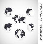 world map vector illustration | Shutterstock .eps vector #1279387660