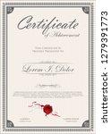 elegant certificate or diploma... | Shutterstock .eps vector #1279391773