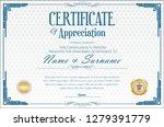 elegant certificate or diploma... | Shutterstock .eps vector #1279391779