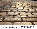 road paved with paving stones....   Shutterstock . vector #1279396996